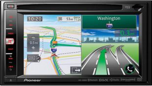 Pioneer Navigation Unit from car audio web design